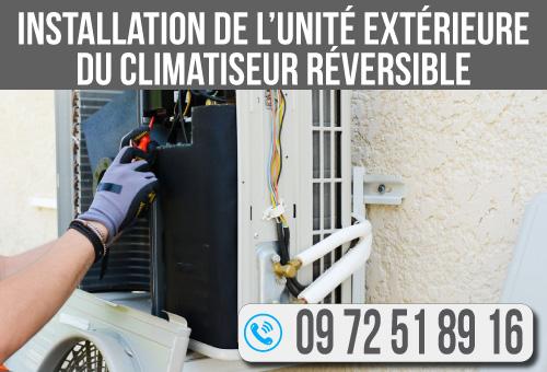 Installation-de-l'unité-extérieure-du-climatiseur-réversible